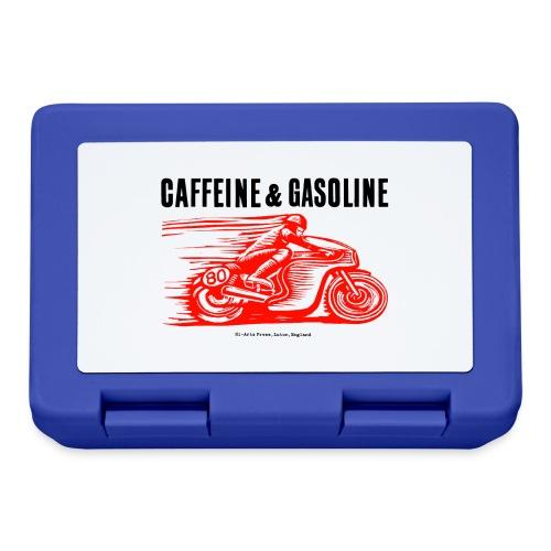 Caffeine & Gasoline black text - Lunchbox