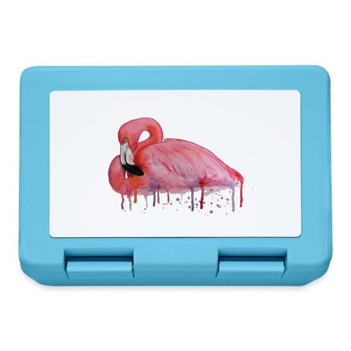 Pink Flamingo Watercolors Nadia Luongo - Lunch box