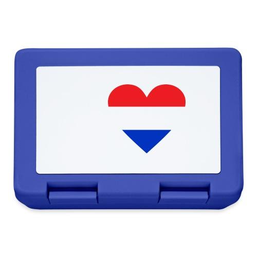 Ik hou van Nederland   Hart met rood wit blauw - Broodtrommel