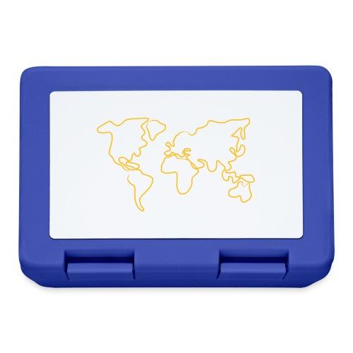 Wereldkaart - Broodtrommel