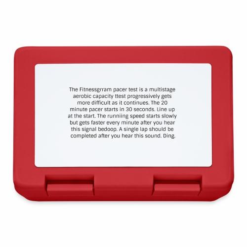 FitnessGram pacer Test - Lunchbox