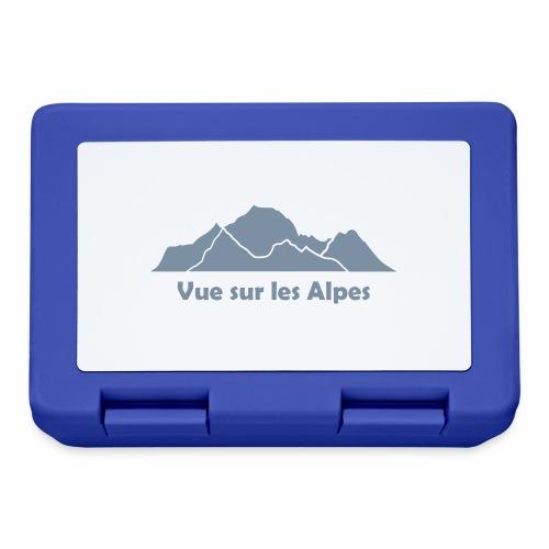 Vue sur les Alpes - Boîte à goûter.