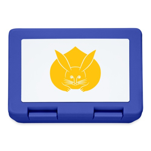 Usagi kamon japanese rabbit yellow - Lunchbox