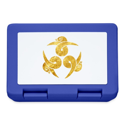 Three Geese Japanese Kamon in gold - Lunchbox