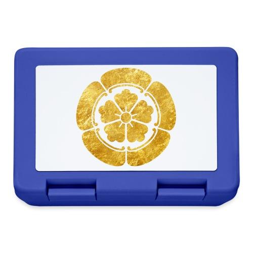 Oda Mon Japanese samurai clan faux gold on black - Lunchbox