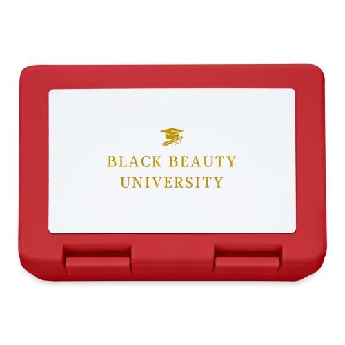 BLACK BEAUTY UNIVERSITY LOGO GOLD - Boîte à goûter.