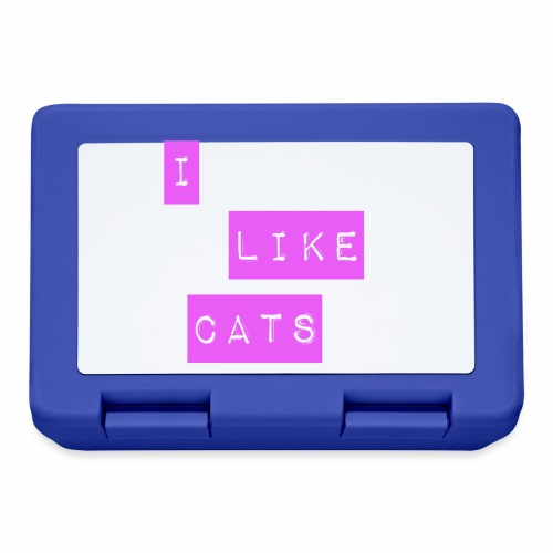 I like cats - Lunchbox