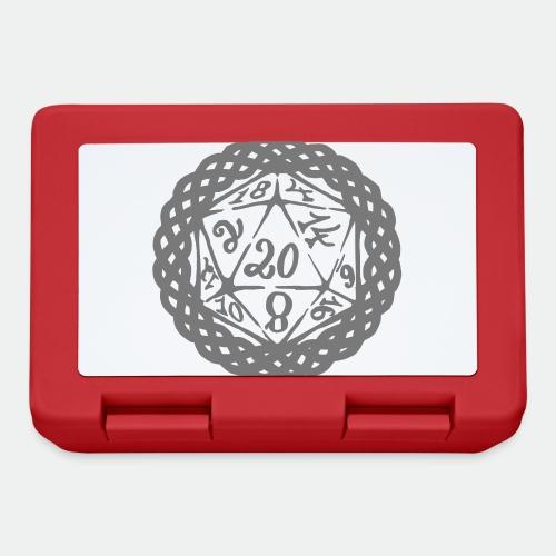 D20 Geschenk Glücksbringer Rollenspiel Würfel - Lunchbox