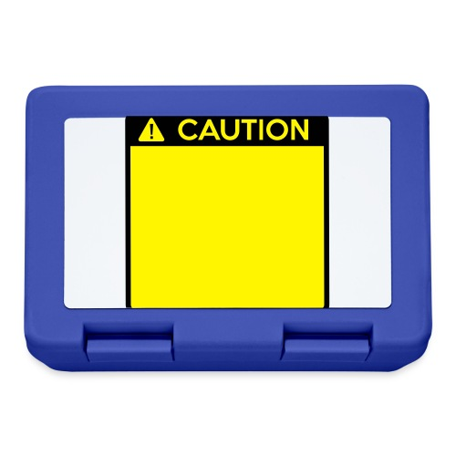 Caution Sign (2 colour) - Lunchbox