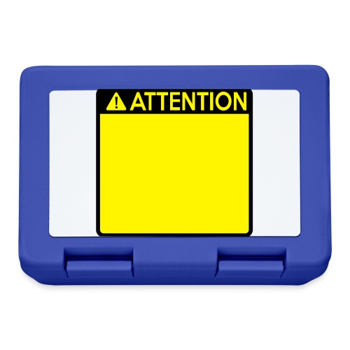 Attention Sign (2 colour) - Lunchbox