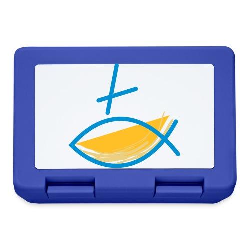 Altkatholischer Logo Fisch Blau/Gelb - Brotdose