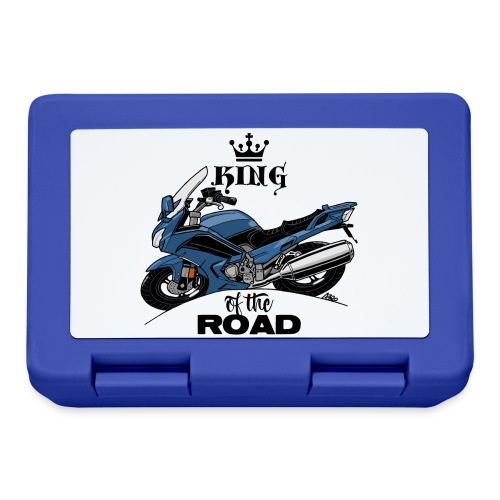 0885 FJR KING of the ROAD (blauw) - Broodtrommel