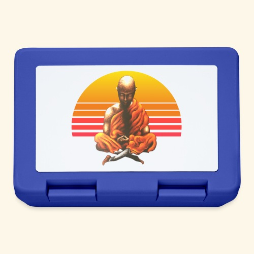 Buddha Yoga Meditation Retro Spiritueller Mönch - Brotdose