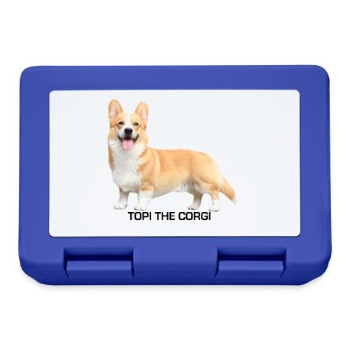 Topi the Corgi - Black text - Lunchbox