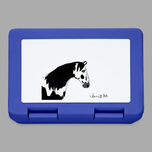 Pferdekopf mit Unterschrift - Brotdose