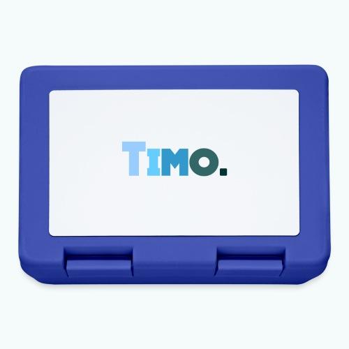 Timo in blauwe tinten - Broodtrommel