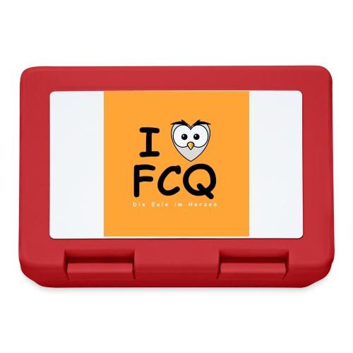 I Love FCQ button orange - Brotdose
