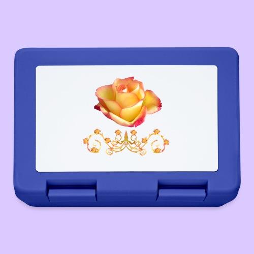 orange Rose, Ornament, Rosen, Blumen, Blüten, edel - Brotdose