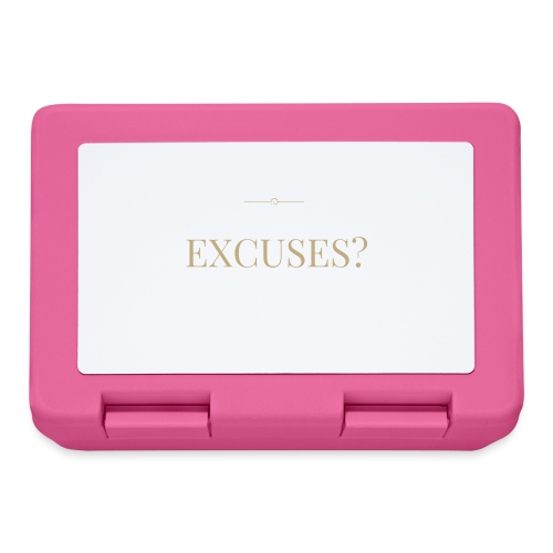 EXCUSES? Motivational T Shirt - Lunchbox