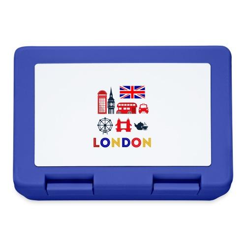 Vintage London Souvenir - Retro Briefmarke London - Brotdose