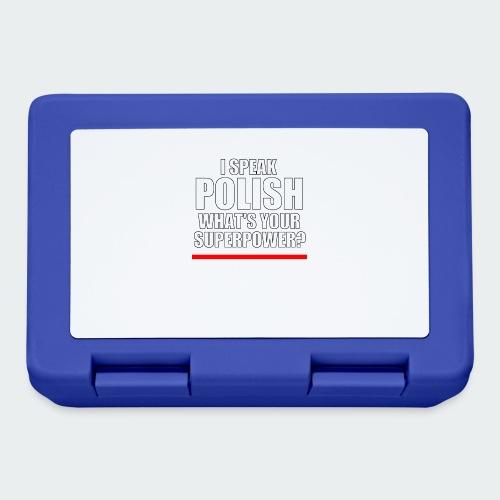 Męska Koszulka Premium I SPEAK POLISH - Pudełko na lunch
