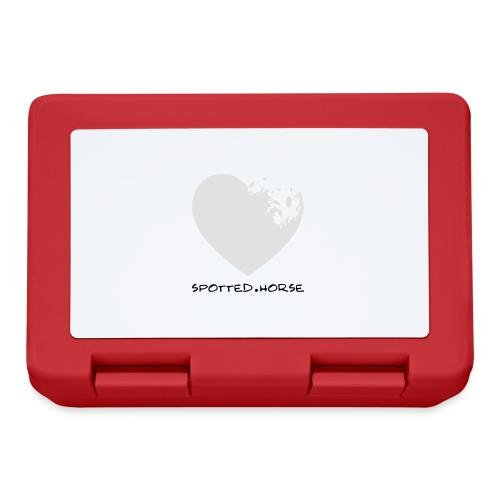 Cuore Appaloosa (bianco/rosso) - Lunch box