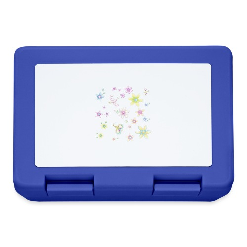 flowers and butterflies - Lunch box