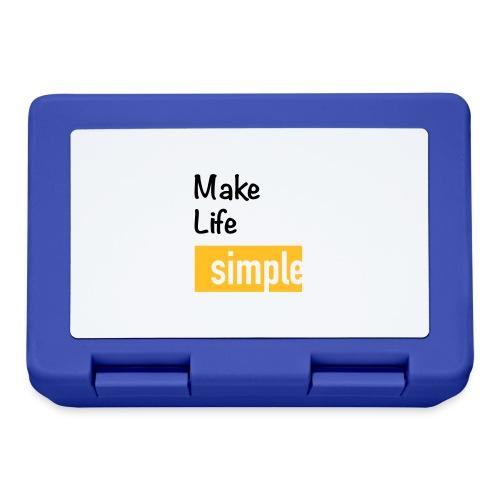 Make Life Simple - Boîte à goûter.