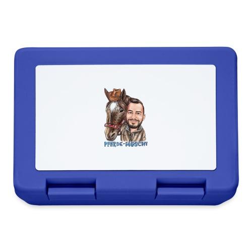 Pferde-Hoschi Kollektion hinten - Brotdose