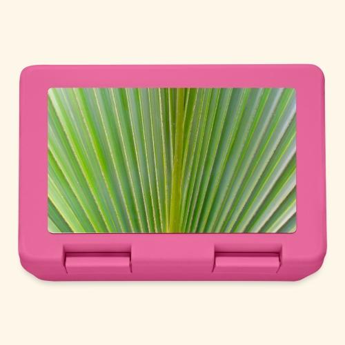 Blatt einer Palme auf einer Insel in der Karibik - Brotdose