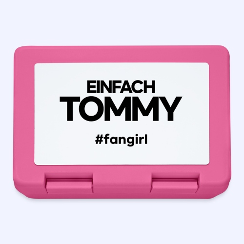 Einfach Tommy / #fangirl / Black Font - Brotdose