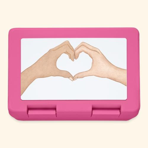 Mains Coeur Amour - Love hands - Boîte à goûter.