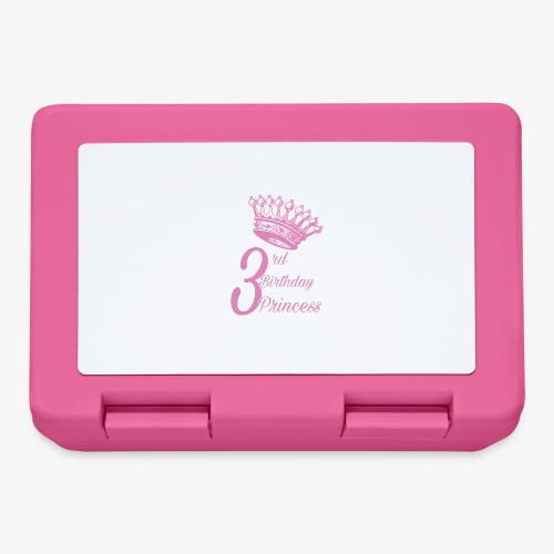 3rd Birthday Princess - Lunch box