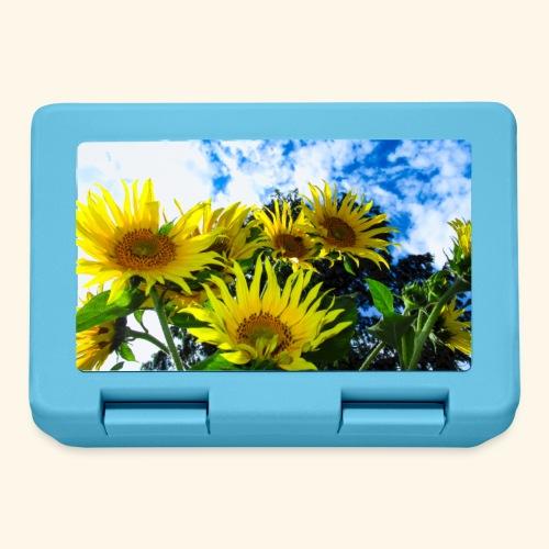 Sonnenblumen, blauer Himmel, Sonnenblume, Wolken - Brotdose