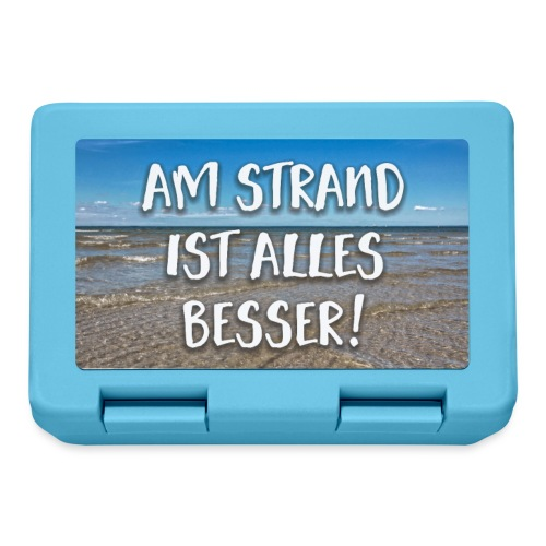 Mousepad Am Strand ist alles besser - Brotdose