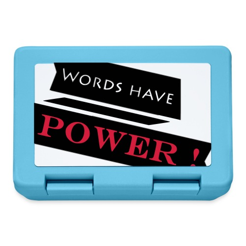 Words Have Power - Lunch box