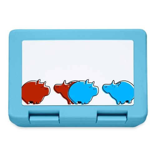 Cochons bleus - Boîte à goûter.