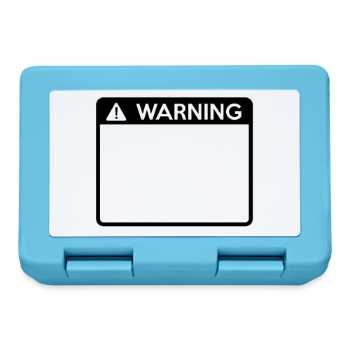 Warning Sign (1 colour) - Lunchbox