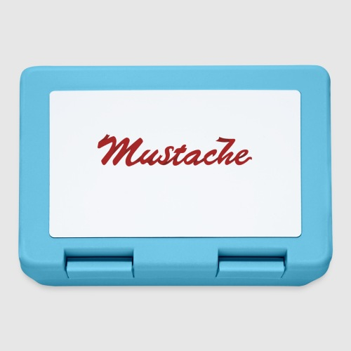 Red Mustache Lettering - Lunchbox