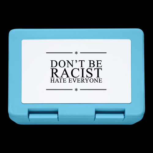 Don't Be Racist (black) - Lunchbox