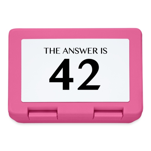 The Answer is 42 Black - Lunchbox