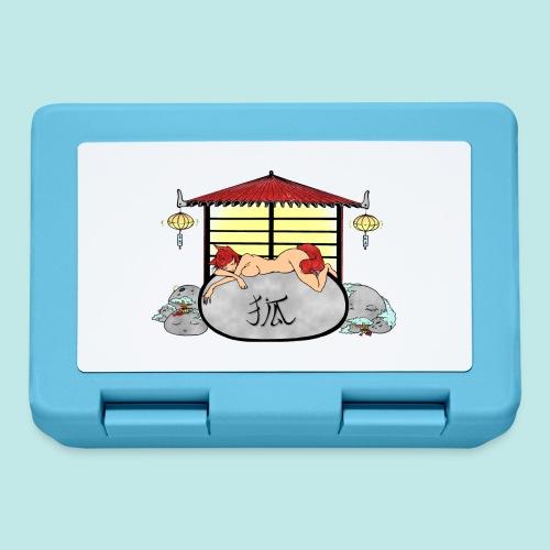 Déesse renard Inari jardin zen temple japonais - Boîte à goûter.