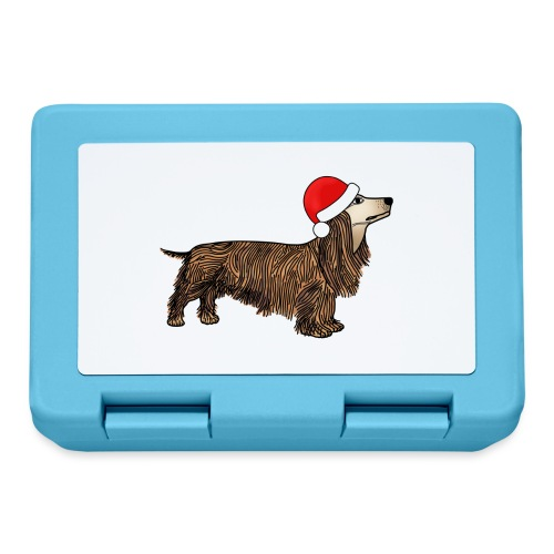 Christmas dachshund - Lunchbox