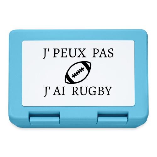 J'peux pas J'ai rugby - Boîte à goûter.