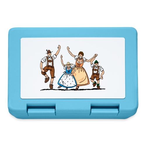 Tanzende Oktoberfest Familie in Tracht - Brotdose