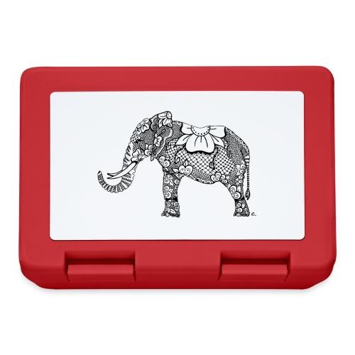 Éléphant oriental - Boîte à goûter.