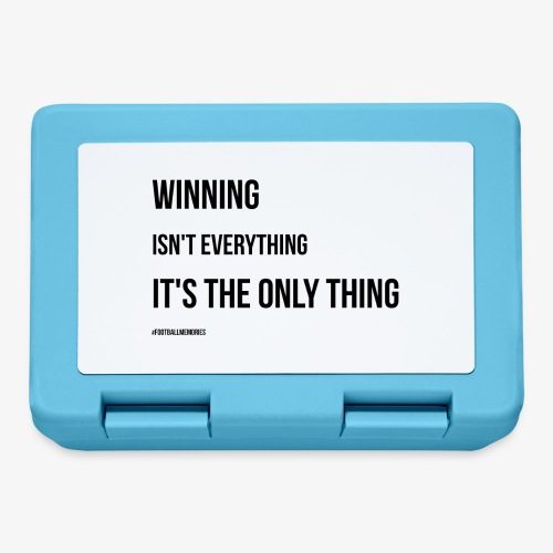 Football Victory Quotation - Lunchbox
