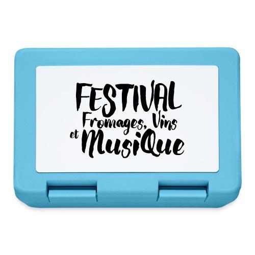 Festival FVM - Boîte à goûter.