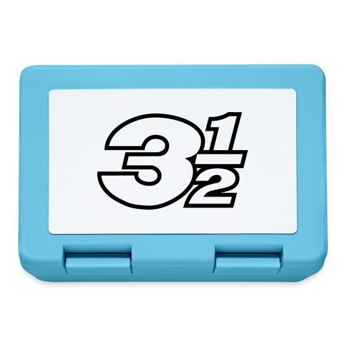 Three and a Half Logo - Lunchbox