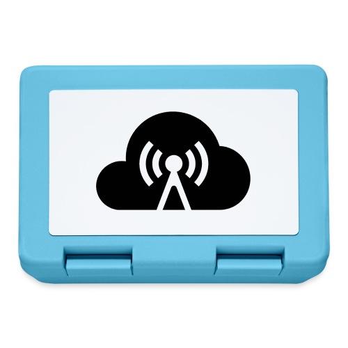 Cloud Cast Wolke schwarz mit Schriftzug - Brotdose